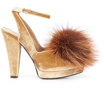 Sandalen mit Pompon
