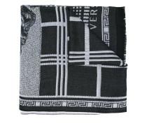 Medusa tartan patchwork scarf