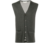knitted leopard gilet