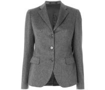 knitted button blazer
