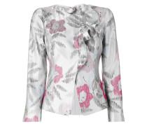 Jacke mit floraler Jacquardmusterung