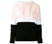 Janine colour-block cotton hoodie