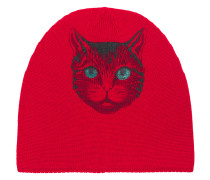 Beanie With Cat Print