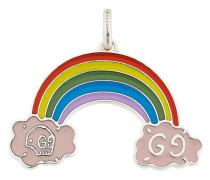 Silberanhänger mit Regenbogen-Motiv