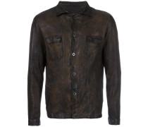 Lederjacke in Distressed-Optik