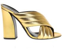 Pantoletten in Metallic-Optik