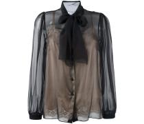 - Bluse mit Schluppenkragen - women