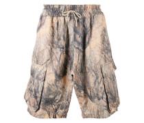 Cargo-Shorts mit abstraktem Print