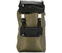 bi-coloured nylon backpack
