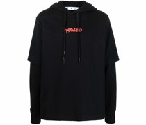 Arrows-print hoodie