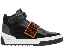 FF-patterned high-top sneakers