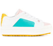 colourblock lace-up sneakers