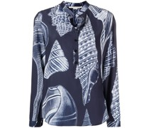 Seidenhemd mit Muschel-Print