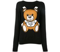 Intarsien-Pullover mit Teddybär - women