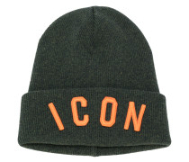 ICON embroidered beanie hat