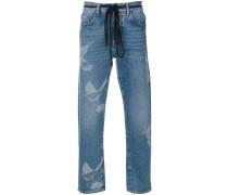 Jeans mit Taube-Print