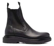 side-panelled leather boots