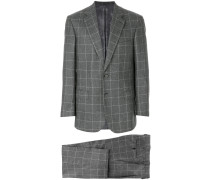 woven grid formal suit