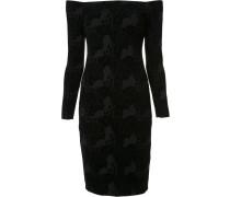 Enganliegendes Kleid mit schulterfreiem Design
