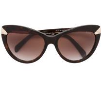 Cat-Eye-Sonnenbrille mit Kontrastdetails