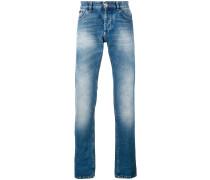 faded straight-leg jeans - men