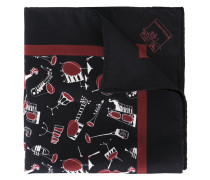 "- Seidenschal mit ""Jazz Club""-Print - men - Seide"