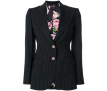 pinstripe fitted blazer
