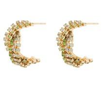 Extra lange Chevron Ohrringe mit Kristallen