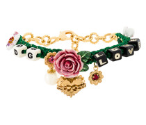 flower and dice charm bracelet