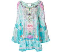 embellished garden print dress