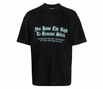 Leinen-T-Shirt mit Text-Print