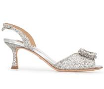 Sandalen mit Glitter-Finish