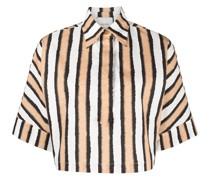Gestreiftes Cropped-Hemd