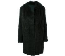 Mittellanger Mantel mit aufgesetzten Taschen