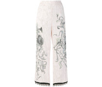 floral sketch trousers