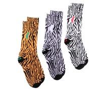 3er-Pack Socken mit Print