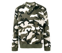 'Rockstud' Sweatshirt mit Camouflage-Print