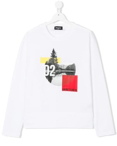 Langarmshirt mit Logo-Print