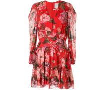 Langärmeliges Kleid mit Blumen-Print