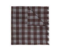 check woven scarf