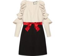 Silk wool dress with sculpted sleeves - women