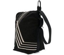stripe panel shoulder bag