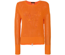 mesh knit jumper