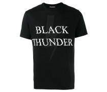 "T-Shirt mit ""Black Thunder""-Print"