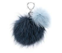 Schlüsselanhänger mit Fuchspelz-Pompons