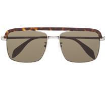 Sonnenbrille mit Steg in Schildpattoptik