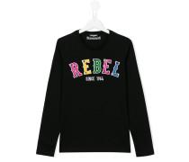 "Langarmshirt mit ""Rebel""-Schriftzug"