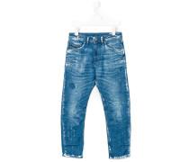 Jeans mit FarbklecksPrint