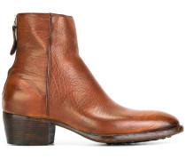 Texturierte Stiefel mit Reißverschluss
