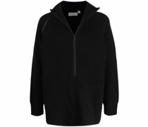 Gestrickter Pullover mit Reißverschluss